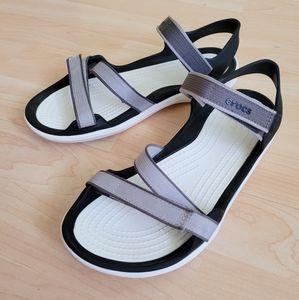crocs white sandals